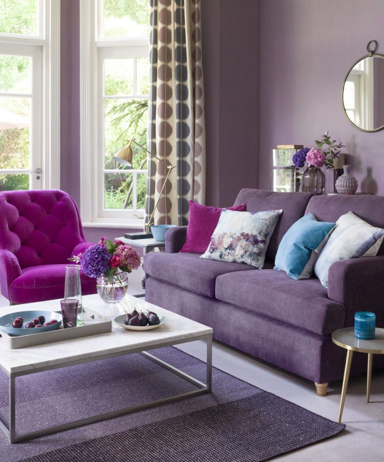 Ultra Violet in design interior